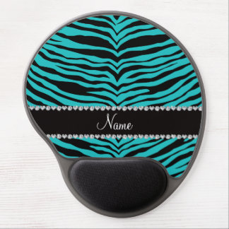 Personalize name turquoise tiger stripes gel mouse mat