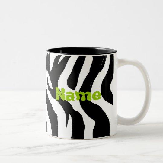 PERSONALIZE NAME Two-Tone COFFEE MUG