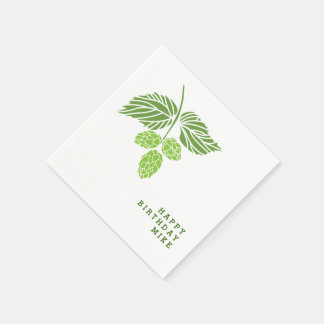 Personalize napkins with hop illustration, beer