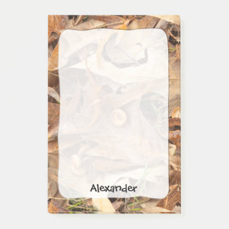 Personalize: Nature Photography Autumn Camo Post-it Notes