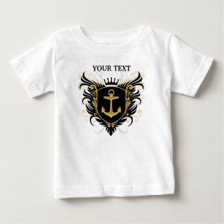 Personalize Navy Crest Baby T-Shirt
