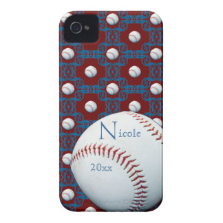 Personalize Nicole Baseball Motif Iphone 4/4S Case