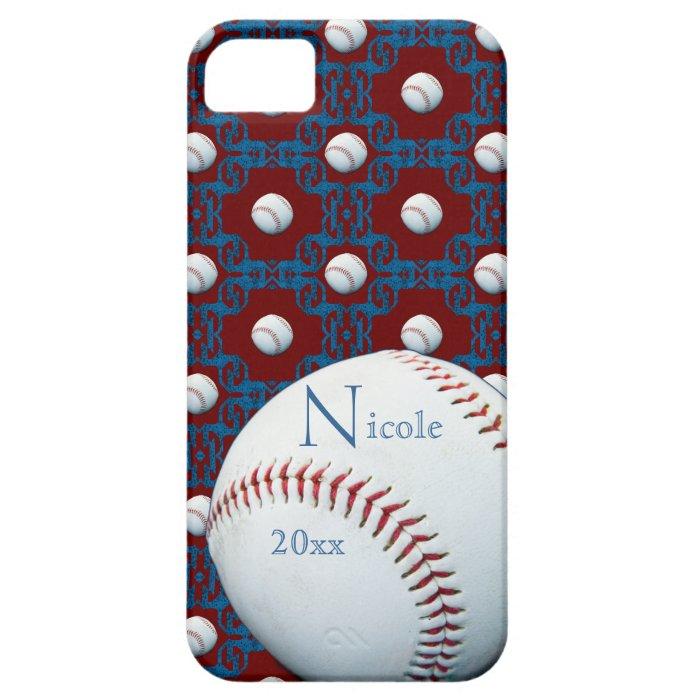 Personalize Nicole Baseball Motif Iphone 5 Case