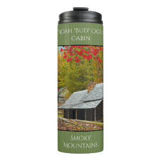 """Personalize Noah """"Bud"""" Ogle Cabin Photography Thermal Tumbler"""