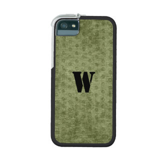 Personalize Nubby Army Green Chenille Likeness Case For iPhone SE/5/5s