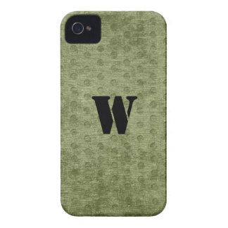 Personalize Nubby Army Green Chenille Likeness Case-Mate iPhone 4 Case