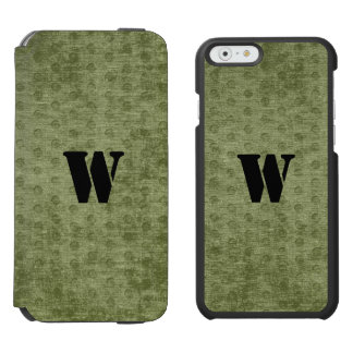 Personalize Nubby Army Green Chenille Likeness iPhone 6/6s Wallet Case