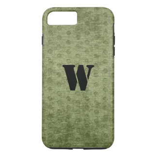 Personalize Nubby Army Green Chenille Likeness iPhone 7 Plus Case