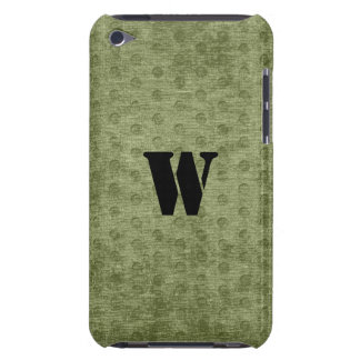 Personalize Nubby Army Green Chenille Likeness iPod Case-Mate Case
