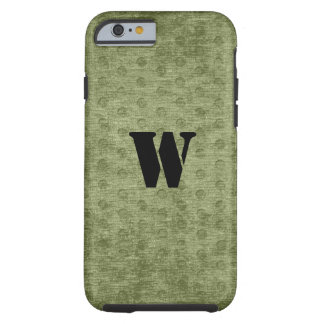 Personalize Nubby Army Green Chenille Likeness Tough iPhone 6 Case