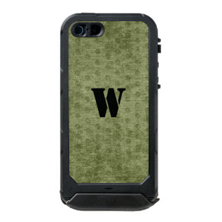 Personalize Nubby Army Green Chenille Likeness Waterproof Case For iPhone SE/5/5s
