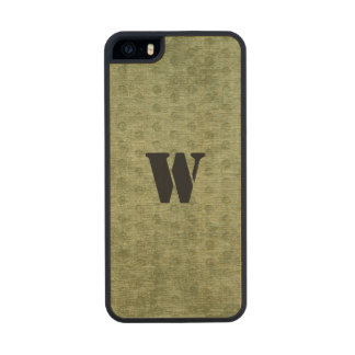 Personalize Nubby Army Green Chenille Likeness Wood Phone Case For iPhone SE/5/5s