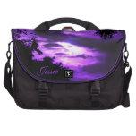 *personalize* nublado púrpura del bolso del ordena bolsas para portatil