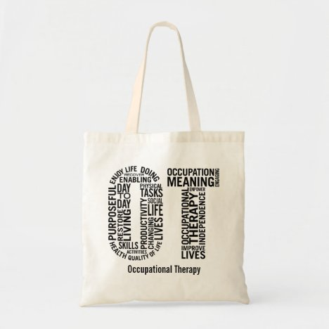 Personalize Occupational Therapist OT Tote Bag