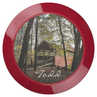 (Personalize) Old Covered Bridge. USB Charging Station