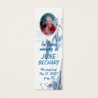 Personalize On the Wings of an Angel Bookmark Mini Business Card