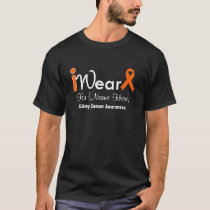 Personalize Orange Ribbon Kidney Cancer T-Shirt