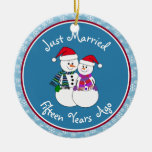 Personalize-Our 15th Wedding Anniversary Christmas Ornaments