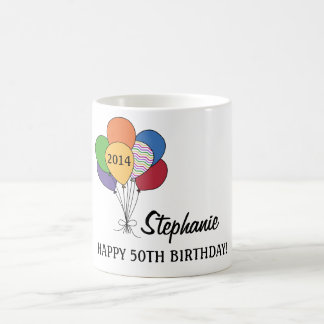 Personalize Our 50th Birthday Balloon Mug