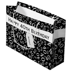 Personalize Over The Hill 40th Birthday Theme Large Gift Bag