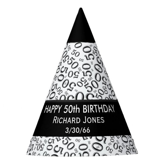 Personalize Over The Hill 50th Birthday Theme Party Hat