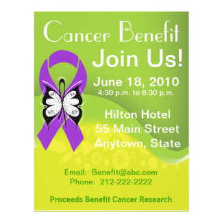 Personalize Pancreatic Cancer Fundraising Benefit Flyer