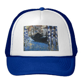 Personalize Peace Water Stream Boats Art Edouard Trucker Hat