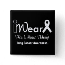 Personalize Pearl Ribbon Lung Cancer Button
