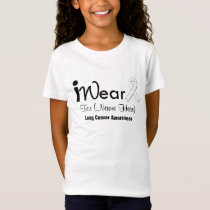 Personalize Pearl Ribbon Lung Cancer T-Shirt