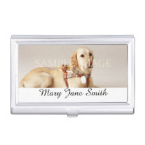 Personalize pet photo name business card case