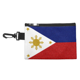 Personalize Philippines Glitter Flag Accessory Bag