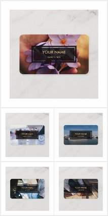 Personalize Photo And Text Business Card