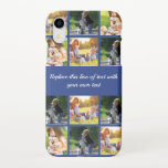 """Personalize photo collage and text iPhone XR case<br><div class=""""desc"""">Personalize photo collage and text</div>"""