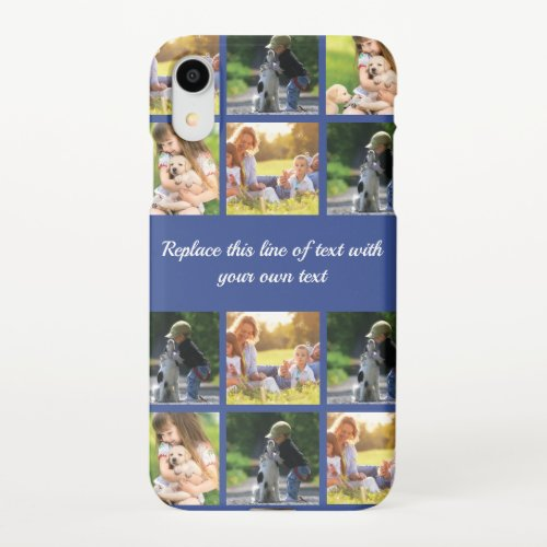Personalize photo collage and text iPhone XR case