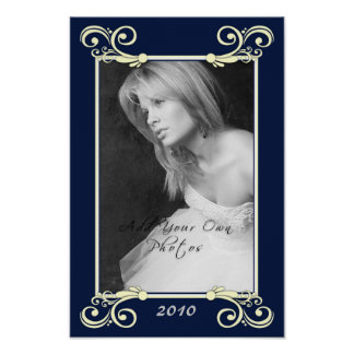 Personalize Photo Mat Border - Graduation Frame Poster