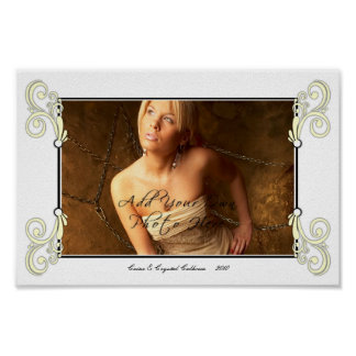Personalize Photo Mat Border - Picture Frame Poster