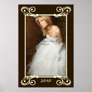 Personalize Photo Mat Border - Wedding Frame Poster