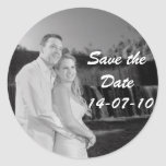 PERSONALIZE PHOTO SAVE THE DATE CLASSIC ROUND STICKER