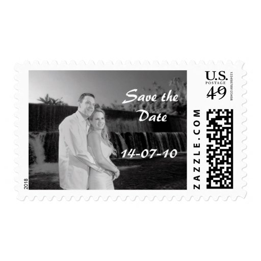 PERSONALIZE PHOTO SAVE THE DATE POSTAGE STAMPS