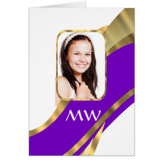 Personalize photo template greeting card