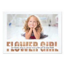 Personalized Photo Will You Be My Flower Girl Card