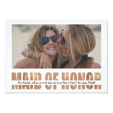special_stationery PERSONALIZE PHOTO WILL YOU BE MY MAID OF HONOR CARD