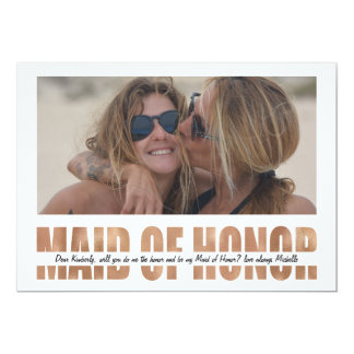 Personalize Photo Will You Be My Maid of Honor Invitation