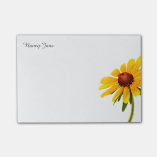 Personalize: Photography Minimal Black-Eyed Susan Post-it Notes