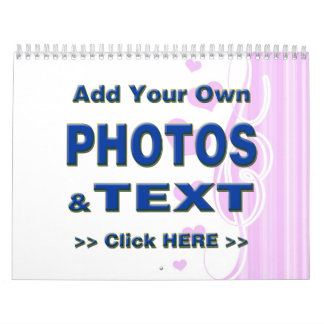 personalize photos text add images customize make calendar
