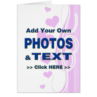 personalize photos text add images customize make stationery note card