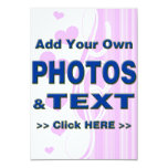personalize photos text add images customize make custom invitation