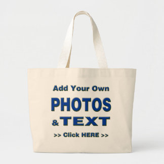 personalize photos text add images customize make jumbo tote bag