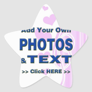 personalize photos text add images customize make star sticker