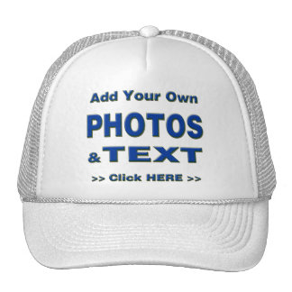 personalize photos text add images customize make trucker hat